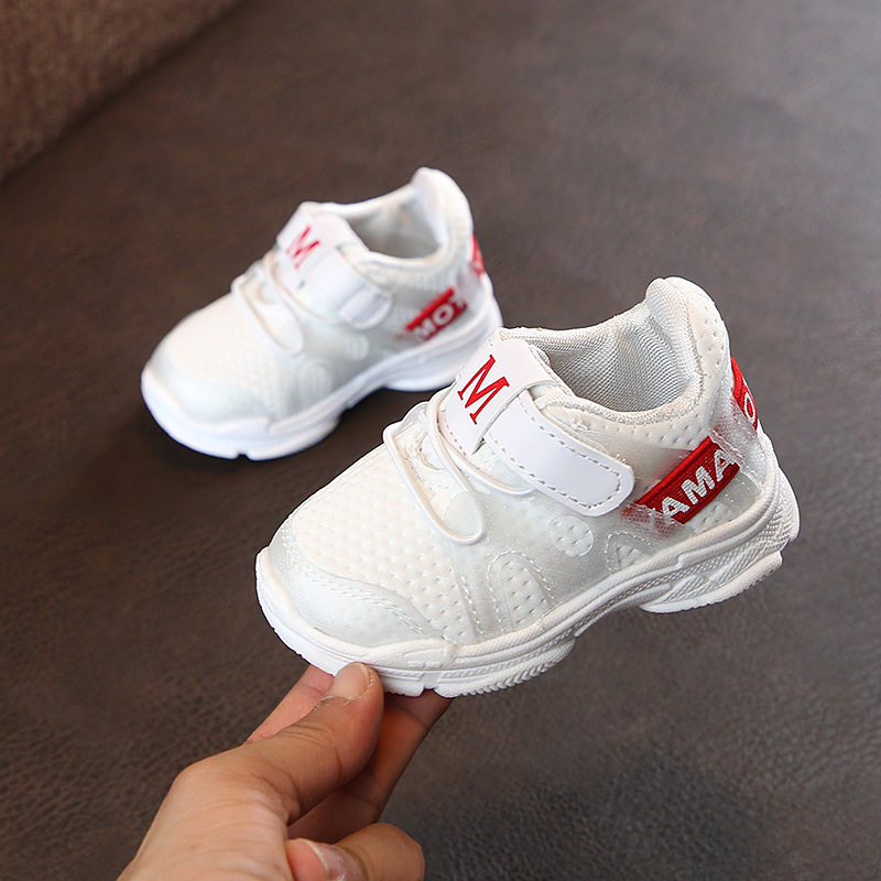 Net Shoes Girls Baby Sports Breathable for White Leisure Boys Hot-Sale 1-3-Years
