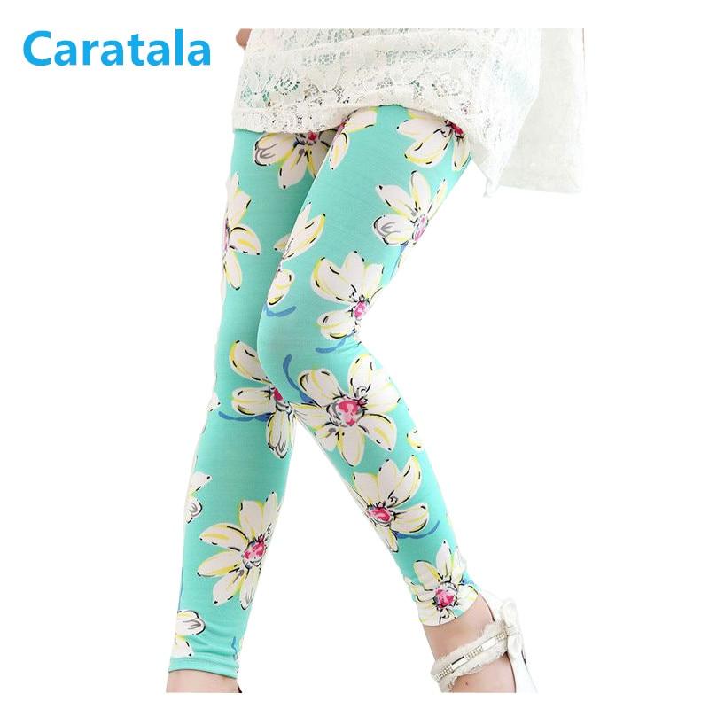 Caratala Baby girl leggings Kids Childrens printing Flower Toddler Classic Leggings girls pants Girls leggings