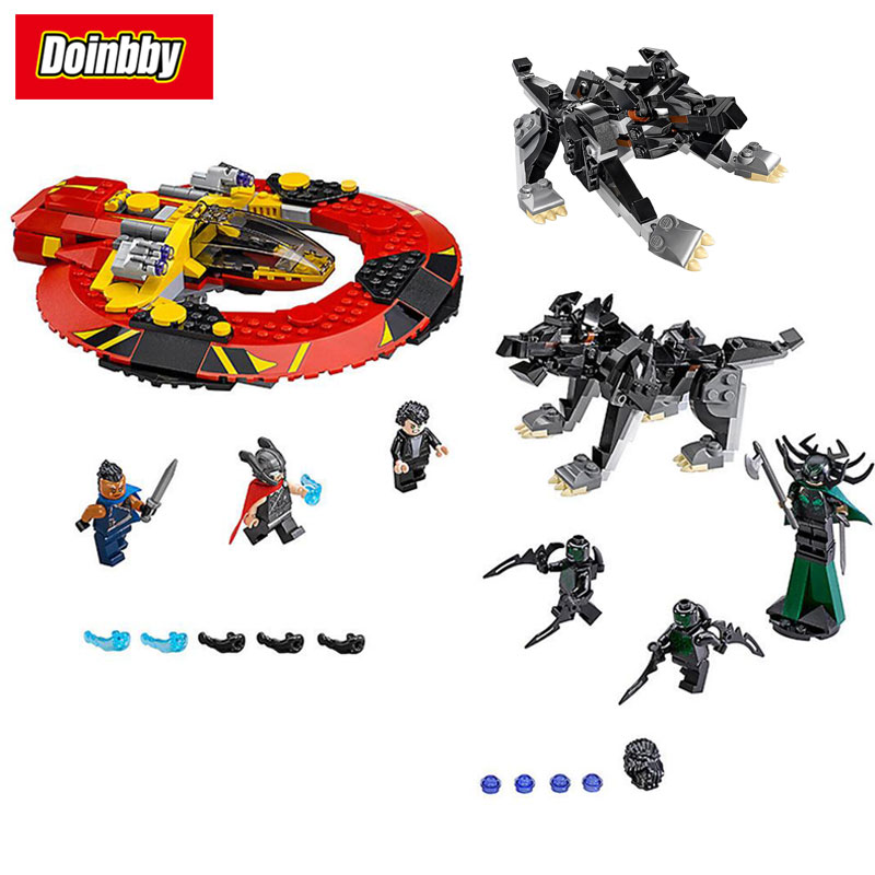 Bela 10747 Thor Ragnarok Miove The Ultimate Battle for Asgard Super Heroes Building Block Brick Toys 434Pcs Compatible 76084 decool 7105 dc super heroes batman the tumbler building block brick tank toys for children boy game gift compatible lepin bela