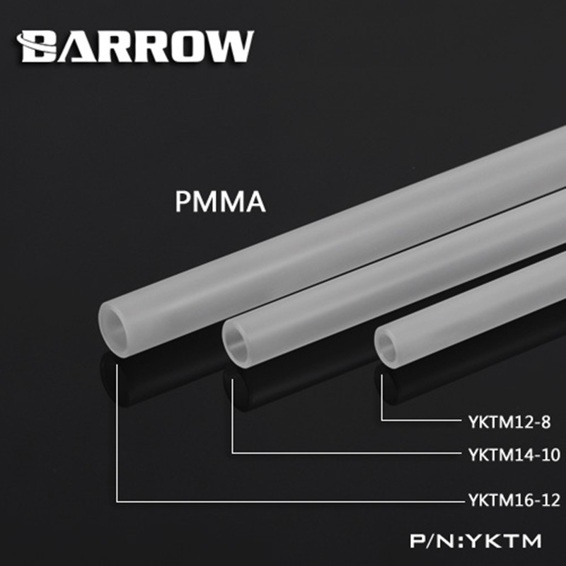 Barrow Matte Acrylic Tube OD 12MM 14MM 16MM Length 500MM PMMA Frosted Tube
