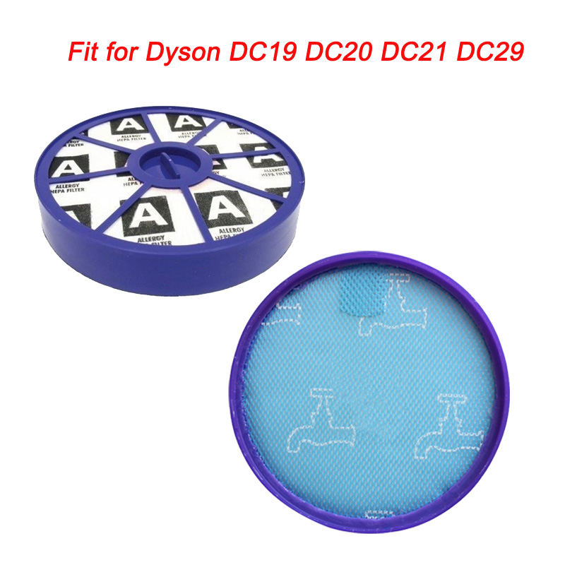 Front & Back HEPA Filter Kit For Dyson DC19 DC20 DC21 DC29 Pre & Post ,upper & Lower Motor Filters Vacuum Cleaner Replacement
