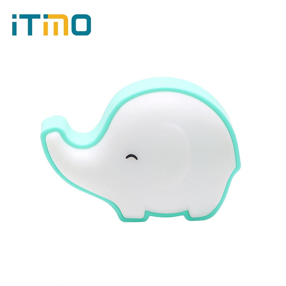 iTimo Elephant Night Light LED Light Sensor Control Night Lamp Warm Yellow US Plug Baby Home Bedroom Decoration Indoor Lighting