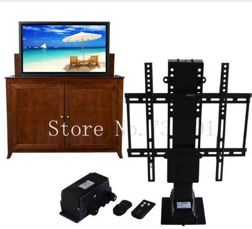 Electric Automatic Tv Lift Shelves With Remote Control For Hotel Home Bed Furniture Suitable For 25-50 Inch Plasma Tv Bracket