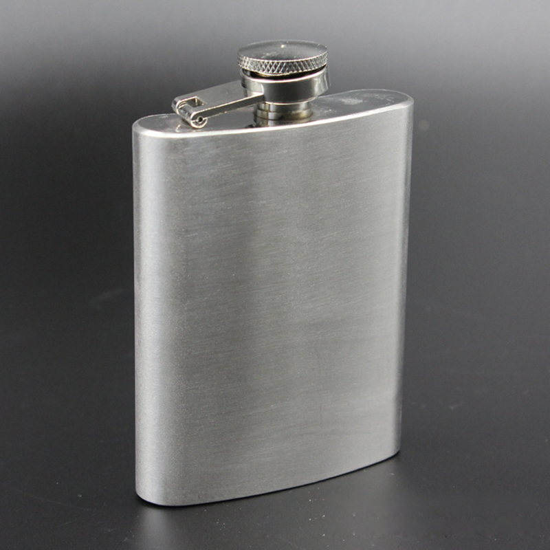 4oz Smooth Surface Stainless Steel Hip Flask Alcohol Whisky Flagon Outdoor Essential Portable Pocket Hip Flask Personalized