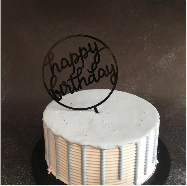 Блестящий для дня рождения торт акриловое украшение письмо Золотой Серебряный Торт Топ украшение в виде флага для вечеринка для мальчика день рождение свадебные принадлежности