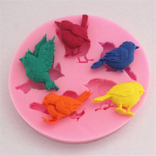 TTLIFE Pigeon Birds Sparrow Silicone Mold Chocolate DIY Decorating Tools Fondant Cake Pastry Sugar Craft Kitchen Baking Moulds