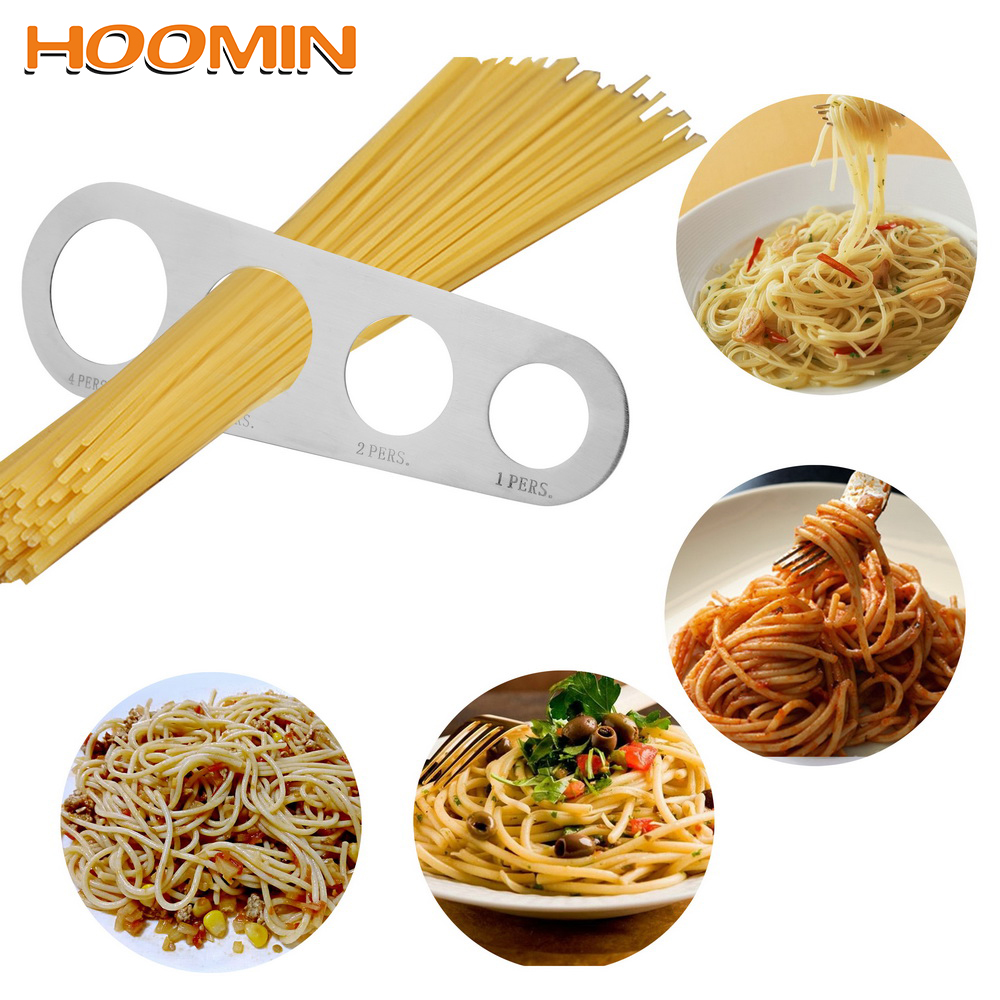 HOOMIN Pasta Noodle Measure  Kitchen Accessories 4 Holes Spaghetti Measurer  Stainless Steel  1Pcs