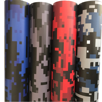 4 Colors Black Grey Red Blue Digital Camouflage Printed Vinyl Car Wrap Foil With Air Drain Full Car Body Wrapping Sticker