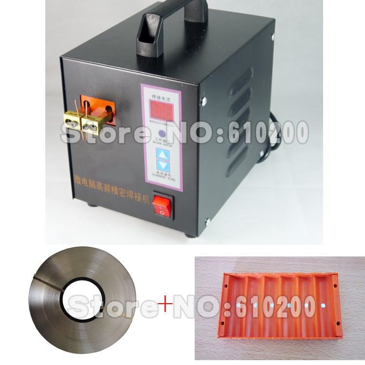 NEW version microcomputer control spot welding high-power spot welder battery welding machine+5mm 1KG Nickel sheet+18650 Fixture nickel stripe 1kg 0 2 8mm battery tabs nickel plate for 18650 mcu spot welder battery welding machine can cut stripe