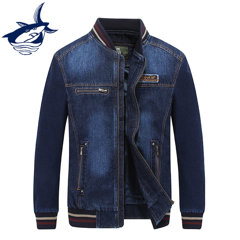 2018 New Arrival Autumn Spring Jackets Men Casual Classic Retro Brand Tace & Shark Denim Jacket Cowboy Jeans Jacket Coat Men-in Jackets from Men's Clothing    1