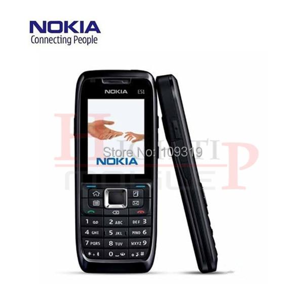 Original nokia e51 mobile teléfonos wifi bluetooth java de desbloqueo del teléfono celular reformado envío libre en la acción