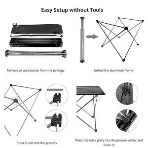 Image 4 - 328 Promotion Portable Foldable Folding Table Desk Camping Outdoor Picnic 6061 Aluminium Alloy Ultra light