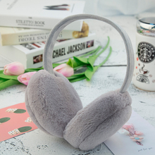 Fashion Solid Color Winter Earmuffs For Women Warm Fur Earmuffs Female Winter Ear Warmers Girls Winter Accessories Festival Gift