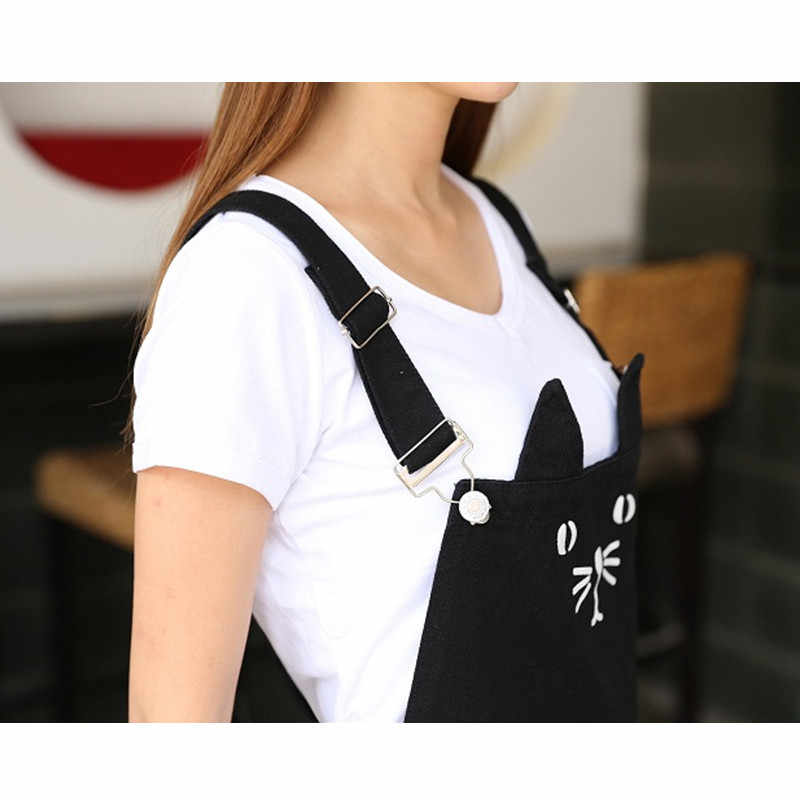 53b822040a ... Black cute plus size lolita jeans overall braces dress with suspenders  women s clothing short mini cat