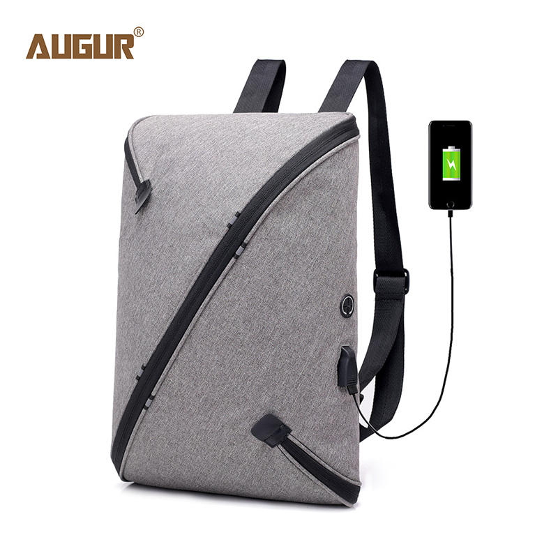 AUGUR New USB Laptop Backpack Men 15 Inch Computer Backpack Schoolbag For Male Multifunction Business Backpacks Travel Bag Pack 2016 new men and women shoulder bag backpack multifunction shoulders 14 15 6 inch notebook computer backpack