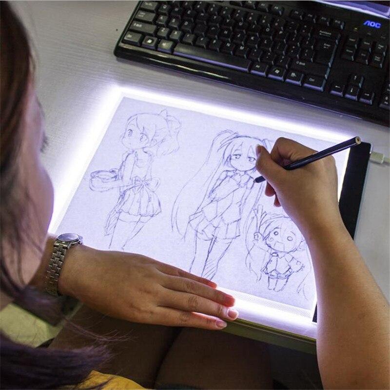 Dimmable A4 taille lumière LED tablette diamant peinture Protection des yeux lumineux copie conseil diamant broderie dessin tablette