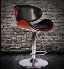Барные стулья из массива дерева Европейский барный стул Высокие