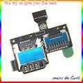 Original Bandeja Sim Card Micro SD Leitor Titular Slot Cabo Flex Para Samsung i9195 S4 Mini I9190 Sim cabo Flex
