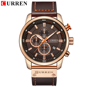 Image 2 - CURREN Luxury Brand Men Military Sport Watches Mens Quartz Clock Leather Strap Waterproof Date Wristwatch Reloj Hombre