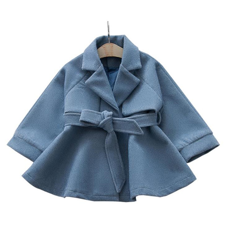 купить 2018 New Winter Autumn Baby Girls Trench Coat Children double breasted Jacket Kids Outerwear Thicken Girls Mink Cashmere Coat по цене 1568.02 рублей
