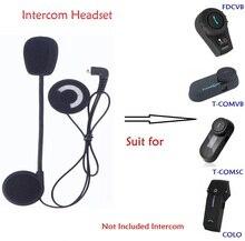 Motorcycle Intercom Accessories Helmet Microphone Headphone Speaker Headset for FDCVB T-COMVB T-COMSC T-Rex Bluetooth Intercom