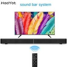 HAAYOT Soundbar Bluetooth Speaker Audio 2.1 TV Soundbar 31.5 inch 40W Built-In Subwoofer AUX TF USB Optical Home Theater For TV