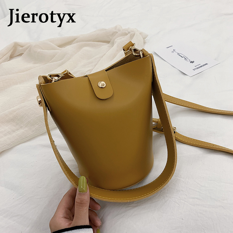 JIEROTYX Lady 39 s Casual Large capacity Handbag Solid Color Classic Fashion Bucket Bag Designer Luxury Handbags Women Bags in Top Handle Bags from Luggage amp Bags