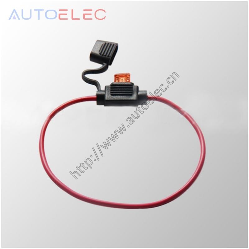 ФОТО 100PC 300mm Waterproof Fuse Holders In-line 16AWG Medium Size Blade Fuse Holder Car Automotive Standard Splas Repair Kit