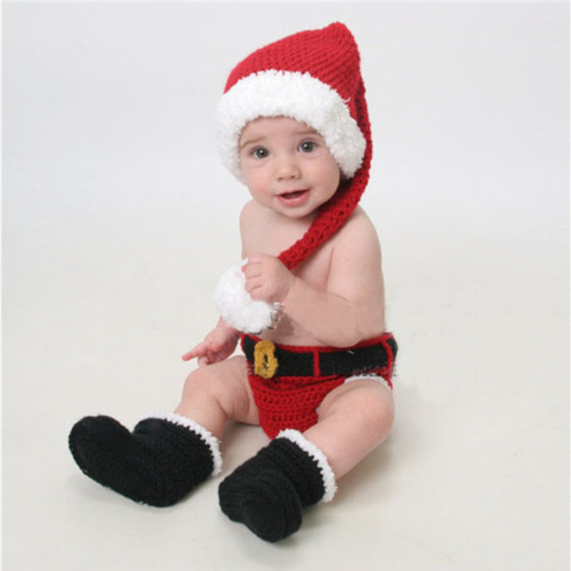 2017 Newborn Photography Props Christmas Santa Claus Baby Clothing Set Cute Baby Hat Accessories Photographie Baby Fotografia sr039 newborn baby clothes bebe baby girls and boys clothes christmas red and white party dress hat santa claus hat sliders