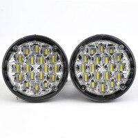 New 2X 18 LED 12V Round Car Motorcycle Daytime Running Lights Led DRL Fog Lamp Warning