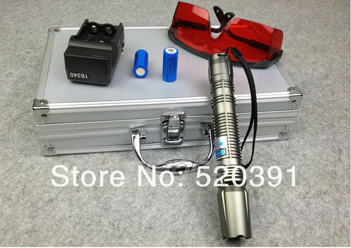 все цены на New 30000mw/30w 450nm Focusable Blue Laser pointers Burning match/Dry wood/candle/black/Burn Cigarettes+Glasses+Changer+Gift Box онлайн