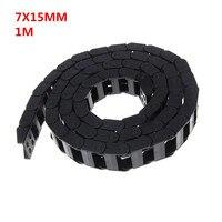 7x15mm 7*15mm L1000mm 7x15mm Kabel Slepen Keten Wire Carrier met End connectoren voor CNC Router Machine Tools
