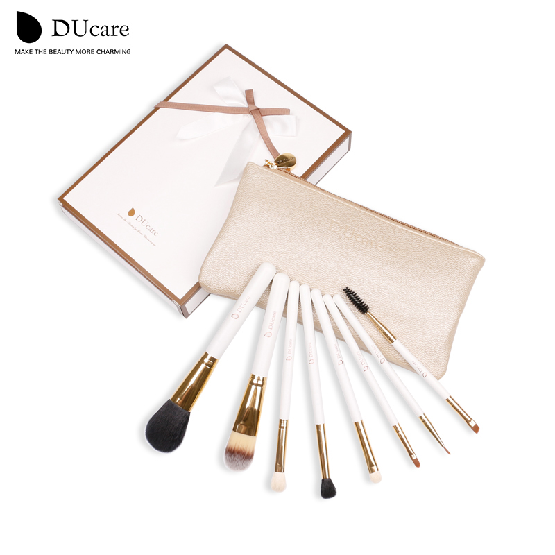 DUcare Professional Makeup Brush Set 8stk High Quality Makeup Tools Kit gratis frakt