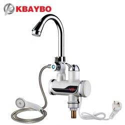 3000 W enchufe de la UE de agua calentador de agua eléctrico cocina calentador instantáneo calentador de inmersión caliente en frío de doble uso A-0668
