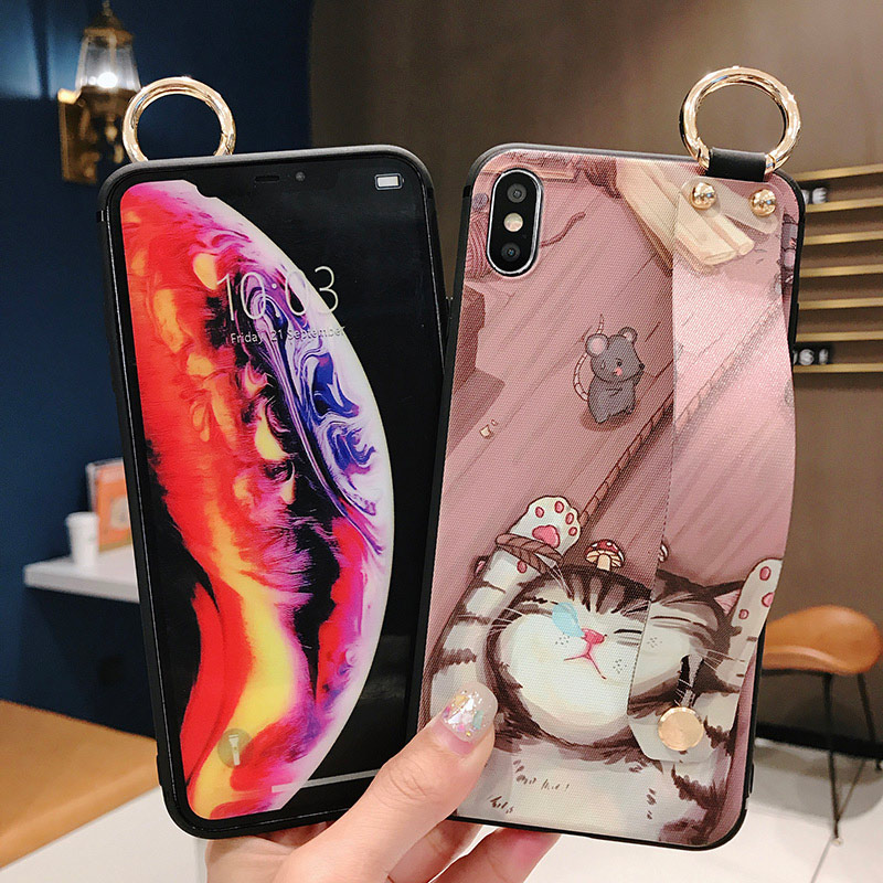 Girls Fashion Case with Wrist Strap for iPhone 11/11 Pro/11 Pro Max 2