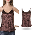 1Pc New Fashion Sexy Women V-Neck Velvet Cami Tank Blouse Top Sleeveless Vest Tops Camisole