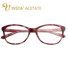 IVSTA Artesanal Óculos de Acetato de Alta Qualidade Mulheres Transparente  Pad Nariz Demi Espetáculo Frame Ótico Miopia Grau do S.. 38131ccb43