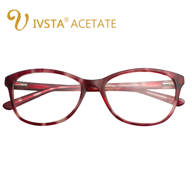 701443b887 IVSTA Handmade Acetate High Quality Glasses Women Transparent Nose Pad Demi Spectacle  Optical Frame Myopia Female