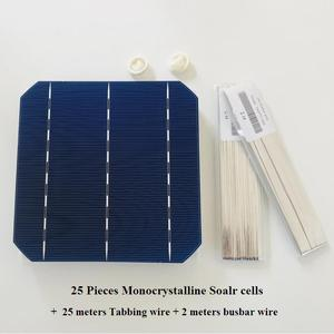Image 5 - ALLMEJORES 25pcs Monocrystalline solar cell 0.5V 4.8W Grade A Type 156mm Photovoltaic panel cell  diy 120W 12V Mono solar panel