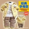 Anlencool Бесплатная доставка Поза младенческой Долина 2017 Дети Одежда Костюмы детская одежда новорожденный мальчик осень одежда