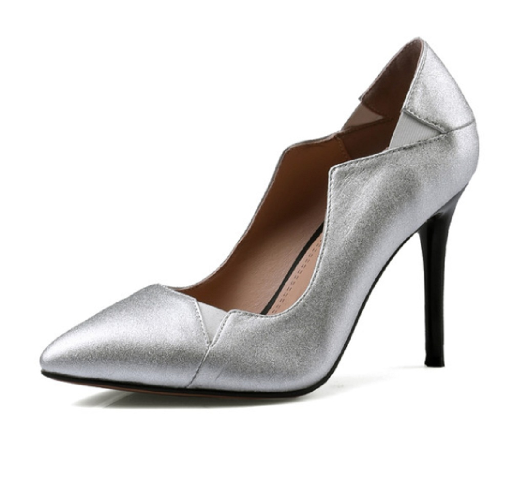Autumn shoes woman genuine leather pointed toe fashion female super high heel solid shallow thin heels career office women shoes 2015 autumn korean style pointed shoes with thin heels original glass double peach heart design shoes leather shoes