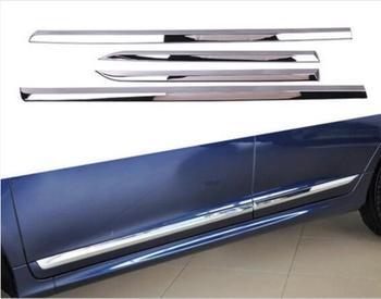 4 sztuk/zestaw ABS CHROME samochodów boczne drzwi ciała PROTECTOR MOLDING pokrywa zgrabna nadające się do VOLVO XC60 2014 2015 2016 2017