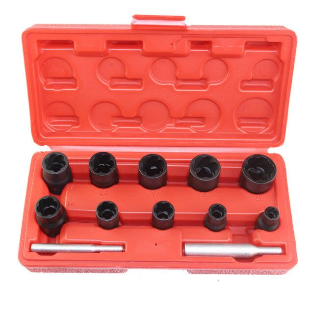 12pcs Twist Socket Set 3 8 1 2 Dr Damaged Lock Lug Nut Removal Socket Tool