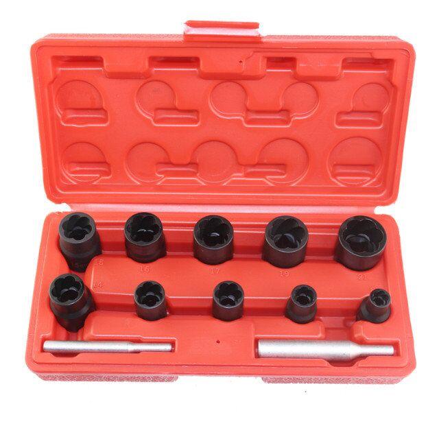 12pcs Twist Socket Set 3/8 & 1/2 Dr. Damaged Lock Lug Nut Removal Socket Tool