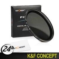 K & F Concept Nieuwe 49mm Variabele Fader ND Filter ND2 ND4 ND8 ND400 Neutral Density Lens Filter For Nikon Canon Hoya Lens