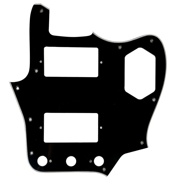 Pleroo Custom Guitar Parts Scratch Plate - For MIJ Jaguar Guitar Pickguard With Paf Humbucker Scratch Plate