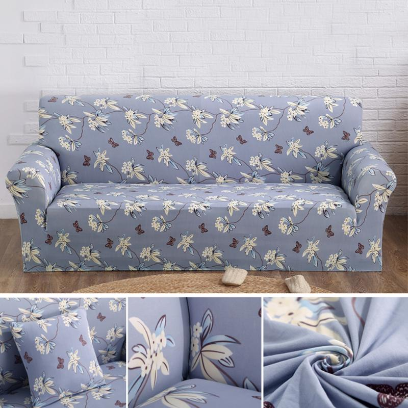 Floral Leaves Sofa Cover Stretchy Slipcover Non-slip High Elastic Cushion Chair Sofa Case Anti-dust Furniture Cover 1/2/3/4 seat