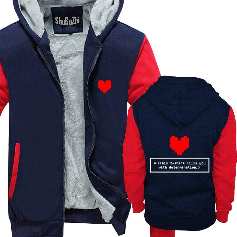 36480a5d Winter Thick Warm Fleece Zipper Coat for Mens Fills You With Determination  - Undertale Sans Funny
