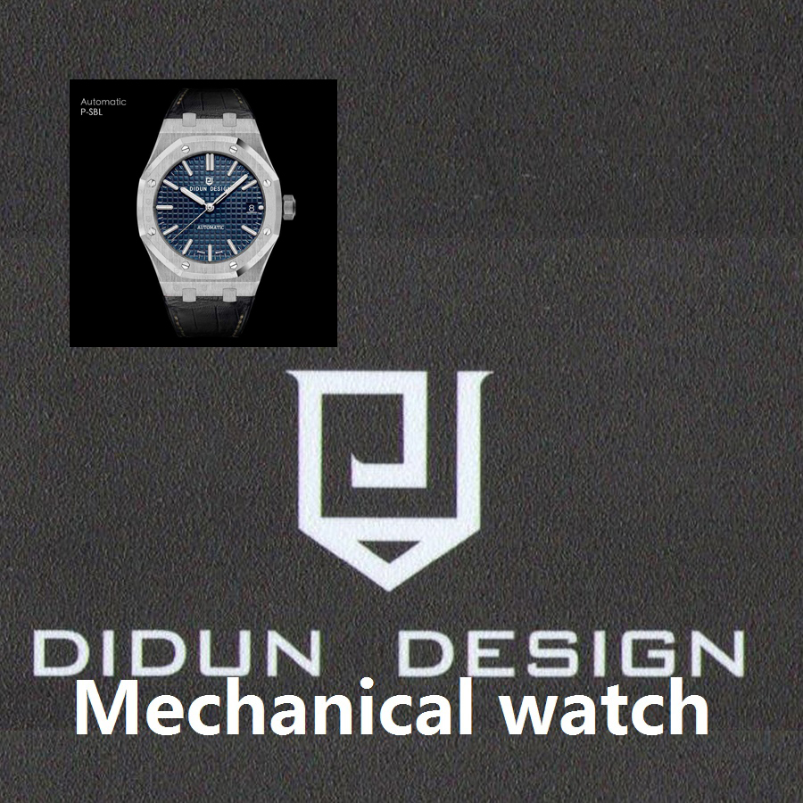 DIDUN Watch Men Top Brand Luxury Automatic Mechanical Watch Military Business Male WristWatch Waterproof 30m Leather Watchstrap