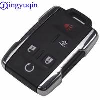 jingyuqin 5 Buttons Remote Car Key Blank Keyless Entry Fob Transmitter For GMC For Chevrolet Truck